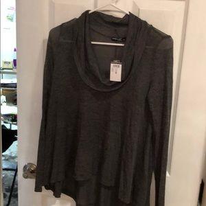 NWT Grey Drop Neck Sweater